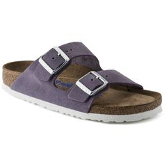 Arizona Suede Leather Soft footbed Lavender