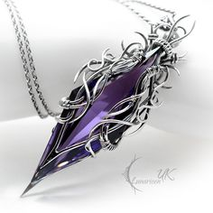 TAESIRTH - silver and amethyst by LUNARIEEN on DeviantArt - Fully handmade work: necklace technique: wire-wrapping materials: sterling silver, fine silver, ame - Wire Wrapped Jewelry, Wire Jewelry, Jewelry Box, Silver Jewelry, Jewelry Making, Silver Ring, Bullet Jewelry, Gold Jewellery, Pearl Jewelry