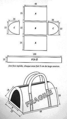 Result of image for cat bag patterns Diy Dog Bag, Pet Bag, Dog Clothes Patterns, Sewing Patterns, Knitting Patterns, Leather Bag Pattern, Dog Items, Dog Pattern, Pet Carriers