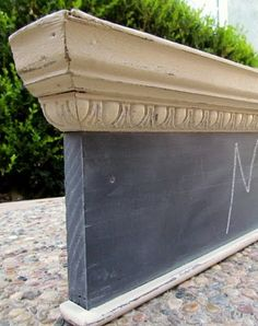 Salvaged Molding turned into a chalkboard