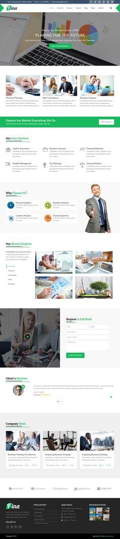 Html Templates, Bootstrap Template, Web Design Inspiration, Design Ideas, Website Layout, Icon Font, Website Template, Finance, Business