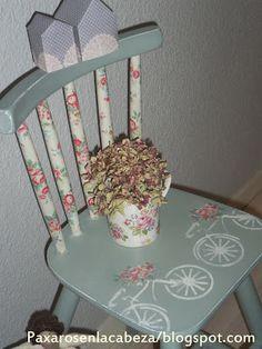 silla pintada con pintura de tiza Annie Sloan