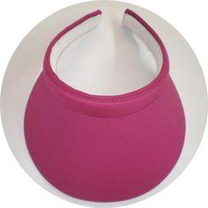 Fuchsia Clip On Mid Size sun visor for women