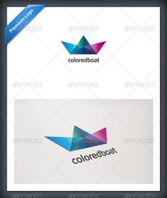 Colored Boat Logo Template - GraphicRiver Item for Sale
