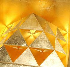 Golden 3D Art Scultpural Form by Nenno de Zoete http://www.sacredgeometryart.com/nenno-de-zoete/