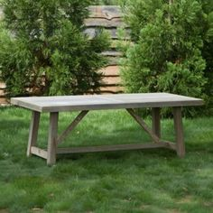 Preserved Teak Braced Leg Dining Table in House+Home HOME DÉCOR Furniture Tables at Terrain