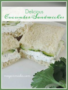 Sandwich recipes 311803974197203530 - An EASY Cucumber Finger Sandwich Recipe is the perfect for a hot summer day or party. With just a few ingredients, they are delicious, easy to make & enjoy. Mini Sandwiches, Easy Finger Sandwiches, Cucumber Tea Sandwiches, Appetizer Sandwiches, Easy Sandwich Recipes, Appetizers, Sandwich Ideas, Toddler Sandwiches, Tea Party Sandwiches Recipes