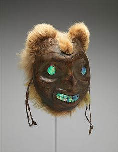 Late 19th century Haida (First Nations) Sea bear mask at the Metropolitan Museum of Art, New York