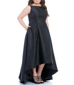 Adrianna Papell Plus Sleeveless High-Low Ball Gown #Dillards