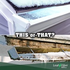Would you rather deal with clogged gutters or have a worry-free winter? Invest in LeafFilter now! Gutter Protection, Leaf Filter, Take The First Step, Would You Rather, Unique Photo, Perfect Photo, No Worries, Filters, Stress