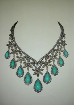 Van Cleef and Arpels, Diamond and Turquoise necklace