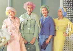 pastel hair on the elderly...