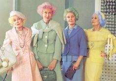 pastel hair on the elderly...
