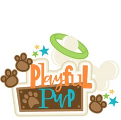 Playful Pup Title SVG scrapbook cut file cute clipart files for silhouette cricut pazzles free svgs free svg cuts cute cut files