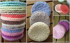 Disques à démaquiller - Mes petites mains. Crochet Braid Pattern, Braid Patterns, Crochet Diy, Crochet Amigurumi, Crochet Braids, Love Crochet, Knitting Patterns, Crochet Patterns, Crochet Hats