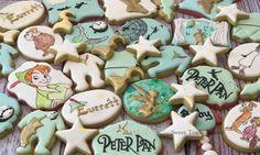 Peter Pan Baby Shower Sugar Cookies TheIcedSugarCookie.com Sweet Trade Bakery #cookies #sugarcookies #decoratedcookies #peterpanparty #peterpancookies #peterpanbirthday #party #birthdayparty #partyideas