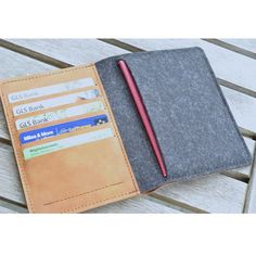 TRAVEL WALLET (Organic Leather) | Handmade | Made to Order | Handcrafted | One of a Kind