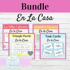 Spanish House Chores and Prepositions Activity Bundle | En La Casa