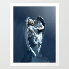 ANGEL 33 Art Print by Richard J Wise - $18.00