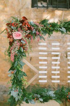 Photography: Anna Roussos Photography - annaroussos.com Floral Design: Studio 7 - www.studio7.gr/   Read More on SMP: http://www.stylemepretty.com/destination-weddings/2014/12/22/boho-chic-winter-wedding-inspiration/
