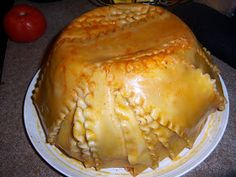 This recipe changes every time I make it, so the recipe is just a guideline. Lasagna Timpano 1 boxes lasagna noodles 1 c alfredo sau. Sausage Lasagna, Lasagna Recipes, Pasta Recipes, Dinner Recipes, Dessert Salads, Fun Desserts, Beef Dishes, Pasta Dishes, Kitchens