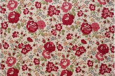 Liberty tana lawn printed in Japan - Felicite - Autumn red mix  75% Reduced (Small size)  2015 Autumn and Winter Collections  Liberty tana lawn -