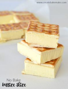 bake Lattice Slice Recipe and Caramel Cheesecake Lattice Slice (baked).No bake Lattice Slice Recipe and Caramel Cheesecake Lattice Slice (baked). Dessert Simple, Baking Recipes, Cake Recipes, Dessert Recipes, Thermomix Desserts, Soup Recipes, No Bake Slices, Cake Slices, Slice Recipe