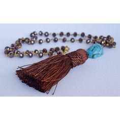 Handmade necklace.Hippie necklace.Bohemian Necklace.Rosario... ($27) ❤ liked on Polyvore featuring jewelry, necklaces, bohemian style jewelry, tassel necklace, tassle necklace, boho chic jewelry and bohemian necklaces