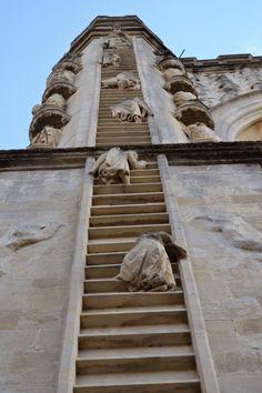 DESDE MI VENTANA: Imágenes escultóricas de la Escala de Jacob. England, Somerset, Bath, Bath Abbey.
