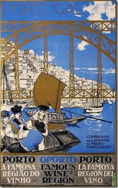 Porto, Portugal -- Antique vintage poster by Souza Alberto, 1930