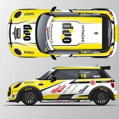 """Mi piace"": 15, commenti: 1 - KV Design (@kvdesign) su Instagram: ""New @minichallengeuk car livery for @jordan_collard1 for 2018! #KVDesign #Mini #MiniChallengeUK…"""