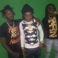 """Here is a new record from the Migos called """"I Just Wanna"""" produced by Fuse of 808 Mafia. Previously: Migos ft. Sauce Walka & Sosamann – On Top Migos Albums, Migos Rapper, Migos Quavo, Thug Style, Boy Celebrities, Celebrity Crush, Music Artists, Eye Candy, Bond"""