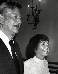 John Wayne And Pat Stacey during Private Party Hosted by Henry Kissinger at Beverly Wilshire Hotel in Beverly Hills California United States