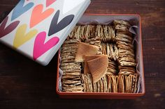 Coconut love letters (kuih kapit)