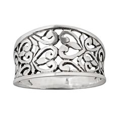Silver Filigree Ring by Sterling on HeartThis