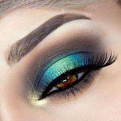 Atrévete a un #verde en tus #Ojos #maquillaje #Makeup #Mua