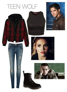 """""""TEEN WOLF SEASON 5"""" by gilinskysbae10 ❤ liked on Polyvore featuring Dr. Martens, Ted Baker, Motel and R13"""