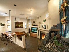 FAMILY ROOM INCORPORATES UNIQUE FEATURES - Home and Garden Design Idea's