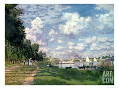 The Marina at Argenteuil, 1872 Giclee Print by Claude Monet at Art.com