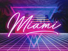 Miami Vice Neon Lights by Eduardo Kranjcec - Travel Miami - Ideas of Travel in Miami Miami Art Deco, Miami Vice Theme, Miami Wallpaper, Miami Party, Art Deco Party, Neon Aesthetic, Retro Waves, Miami Heat, Neon Lighting