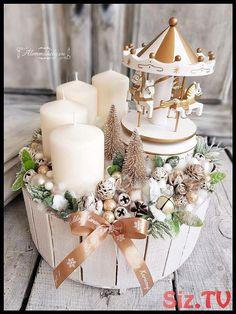 Metabes - Home, Craft and Diy Christmas Advent Wreath, Handmade Christmas Decorations, Christmas Centerpieces, Winter Christmas, Christmas Time, Christmas Crafts, Winter Holidays, 242, Blog Deco