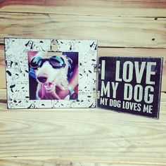 Show your dog some love with this cute picture frame!