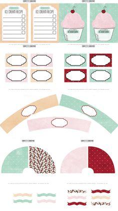Confetti Sunshine: Ice Cream Social - Printables