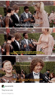 Stranger Things cast, Millie Bobby Brown, Caleb McLaughlin, Gaten Matarazzo
