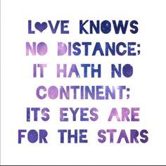 Long distance love...