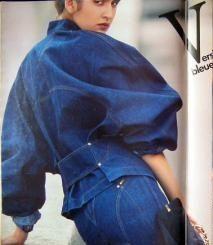1985 - Alaia denim suit in Elle