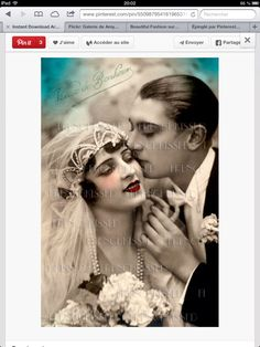 Carte mariage 1920