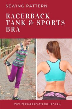373612bdd1ad9 Racerback Tank   Sports Bra Sewing Pattern! Sew Something Special with  Peekaboo Pattern Shop!