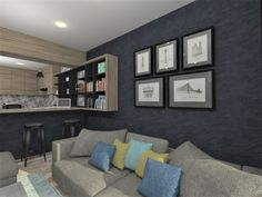 Apartment rendering of makeover Interior Rendering, 3d Rendering, Interior Design, Gallery Wall, Home Decor, Design Interiors, Homemade Home Decor, Home Interior Design, Interior Architecture