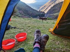 Inca Trail Alternate Route - Our view we woke up to – not too shabby
